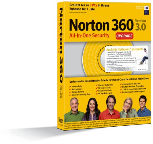 Norton 360 V3.0 3 Benutzer - Upgrade [import allemand]