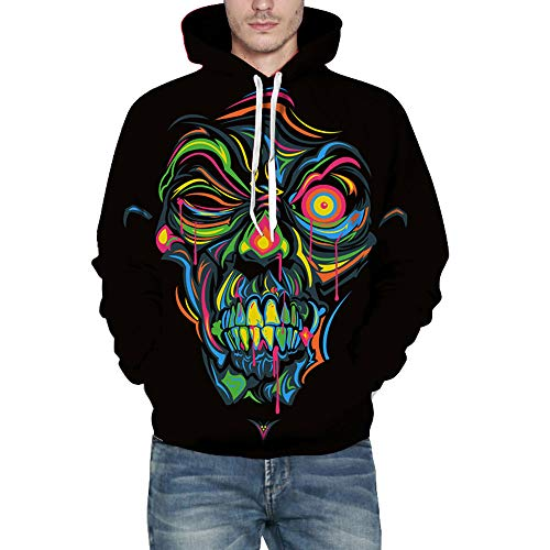 Men's Hoodies, FORUU Autumn Winter 3D Print Long Sleeve Hooded Sweatershirt Top Blouse