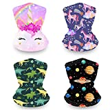 Kids Neck Gaiter Face Maks for Kids, Reusable Bandana Face Madk for Girls Boys, Washable Face Covering, Children Scarf Madks Neck Gator, Toddler Balaclava for Fishing Motorcycling (mix2-thick)