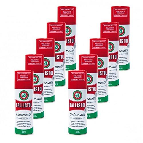 BALLISTOL Spray, 10 Dosen a 200 ml Waffenöl Kriechöl Pflegeöl 21700
