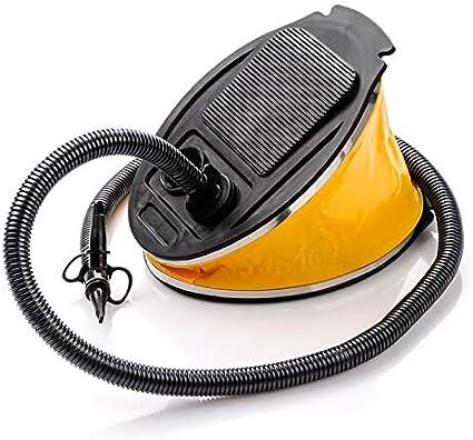 Blueborn Unisex Adulti Soffietto FP-2L Pompa a Pedale con 3 Ugelli Aria Pompa con 2 Litri Compressore Aria Giallo