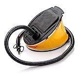 meteor Bomba de Pie Aire Pump Inflador Manual para Barca Colchonetas Hinchables Kayak Juguetes de Piscina Balones - 3 Boquillas - Ideal para Casa y Acampanda (5L)