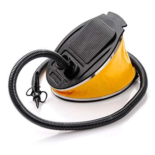 Luft Fußpumpe Mini Schritt Schnelle Inflator Mit 3 Wasserhähne Ventil Adapter Für Schlauchboot Spielzeug Bett Ballon Betten Planschbecken Garten Spielzeug Schwimmen Wasserball (5L, Schwarz/Gelb)