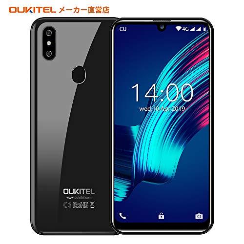 OUKITEL C15 Pro+ 4G SIMフリースマートフォン本体 3GB RAM+32GB ROM 6.1インチHD+大画面Android 9.0 携帯電話 デュアルSIM グローバルLTEバンド対応スマホ フェイスと指紋ロック解除 技術適合認証(32GBのSDカードを無料で送ります)