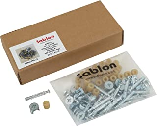 Sablon Minifix 15/18 Cam (Color Classic) Fitting with Dowel & Pre-Insert Nut 25 Set Pack