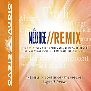 Message Remix Bible     Psalms & Proverbs              By:                                                                                                                                 Eugene H. Peterson                               Narrated by:                                                                                                                                 Kelly Ryan Dolan                      Length: 6 hrs and 3 mins     77 ratings     Overall 4.4