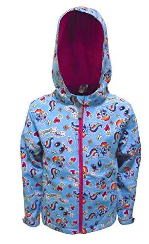 Mädchen blau My little Pony Jacke mit Kapuze Kinder mit Reißverschluss Fleece Mantel - Blau, 4-5 Years