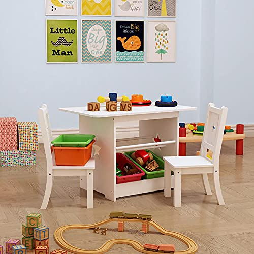 Walgreen® Wooden Children's 7 Piece Rectangle Table and Chair Set