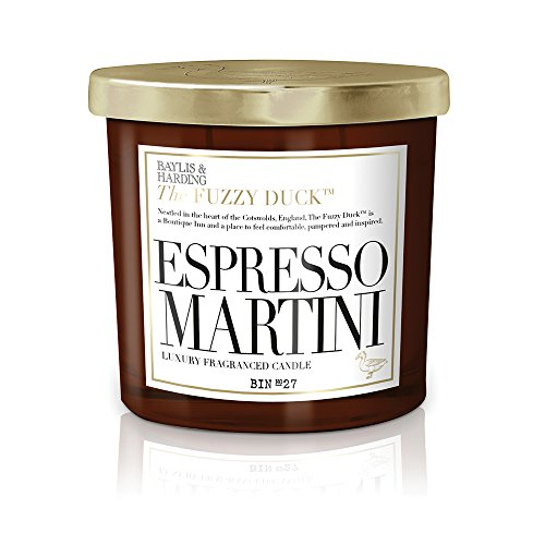 Baylis & Harding Fuzzy Duck Cocktails Espresso Martini Luxus Doppel-Docht Kerze