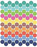 Tresxics Adhesivo de Pared Círculo, Vinilo, Multicolor, 40x