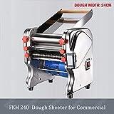 Laminadora eléctrica para el hogar masa fabricante de máquinas pie rodante/comercial inoxidable fideos de acero,Fkm240