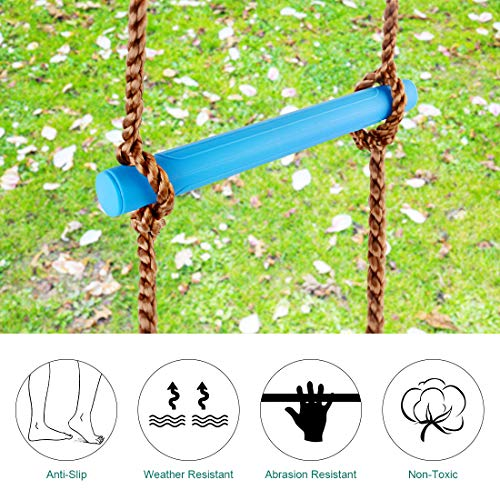 TOPNEW 6.6 Ft Climbing Rope Ladder for Kids, Climbing Ladder Hanging Rope Ladder for Indoor Play Set and Outdoor Tree House, Playground Swing Set and Ninja Slackline