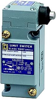 Square D 9007C54G Heavy Duty NEMA Limit Switch, Full Size, 1 Pole, Side Push Plunger Head