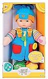 edle Lernpuppe Babypuppe 33 cm mit Feinmotoriktraining Boy oder Girl (Puppe BOY blau)