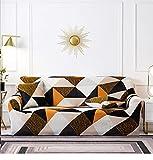 Sofa Cover Furniture Protector 1 2 3 4 Seater Black Gold Plaid...
