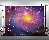 HD 7x5ft宇宙背景銀河宇宙カスタマイズされた写真の背景スタジオプロップ 447