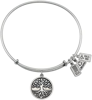 Wind and Fire Expandable Bangle Tree Of Life Brass