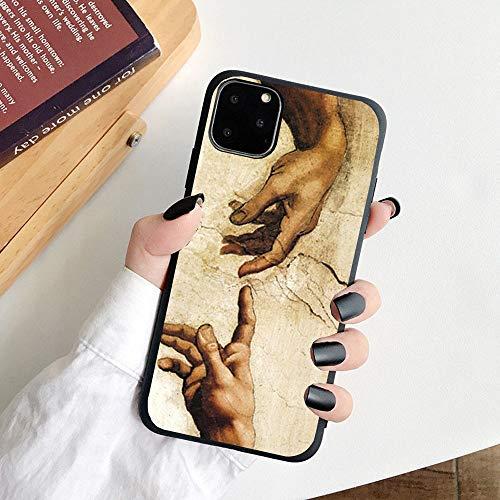 HNZZ Tmrtcgy para iPhone 11 Case Mona Lisa Art David Soft TPU Funda para teléfono para Apple iPhone 12 7 8 Plus XR XS 11PRO MAX Case (Color : 08, Size : IphoneXS MAX)