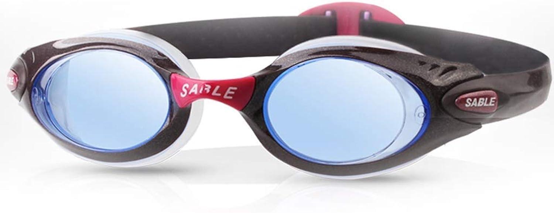 DX Berufsschwimmbrille, mnnliche und weibliche Schwimmbrille wasserdicht und Anti-Fog Schutzbrille