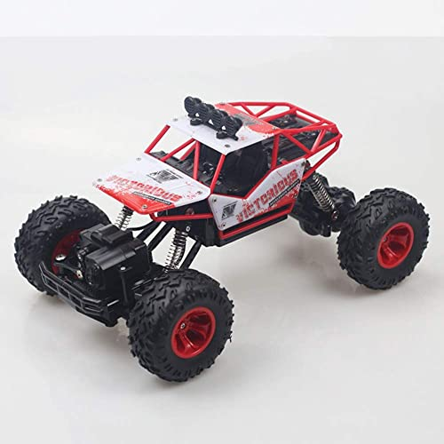 HUIGE Ferngesteuertes Auto 2,4 GHz 4WD Off Road Hochgeschwindigkeits-RC-Auto Dual Motors Rock Crawler Graffiti Racing Monster Truck,rot