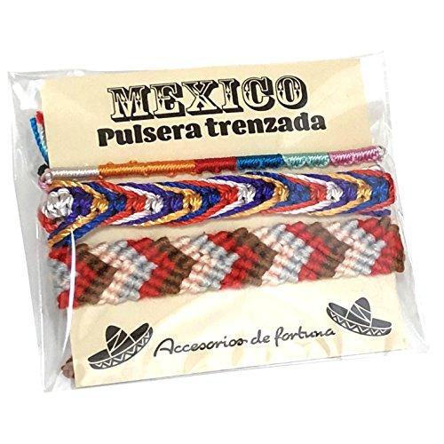 メキシコ製 ミサンガ 3本セット Mexico メキシカン エスニック 編み ブレスレット アソート 男女兼用 プロミスリング アンクレット (A)