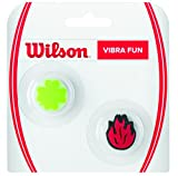 Wilson Vibrationsdämpfer für Tennisschläger in Flammen/Glücksklee-Form, Vibra Fun, 2er Pack, grün/rot, WRZ537500