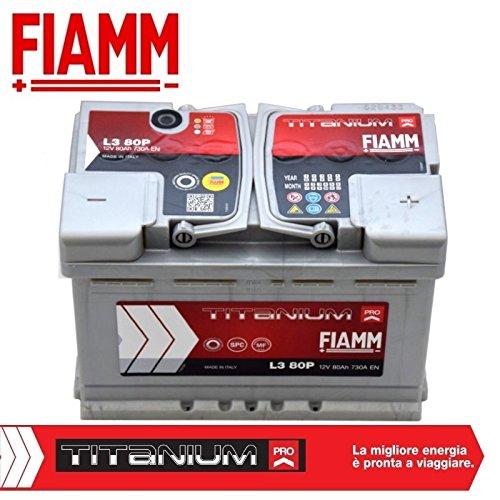 FIAMM Titanium Plus L380+ Batería de Coche, 80Ah 730â a, Plus Pol Derecho