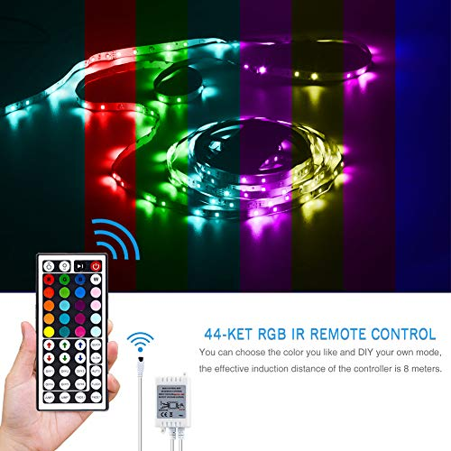 Daybetter SMD 3528 Led Strip Lights with 44 Key Remote( 2 Rolls of 16.4ft ) 9