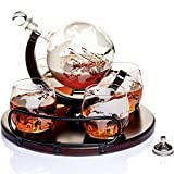 Whiskey Decanter Sets Globe Decanter for...