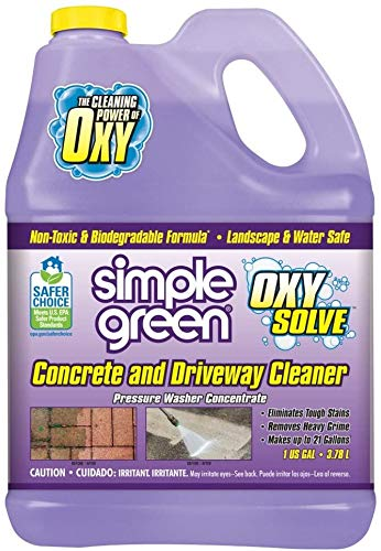 Simple Green Oxy Solve Concrete and Driveway Pressure Washer Cleaner, Purple, Unscented, 128 Fl.Oz