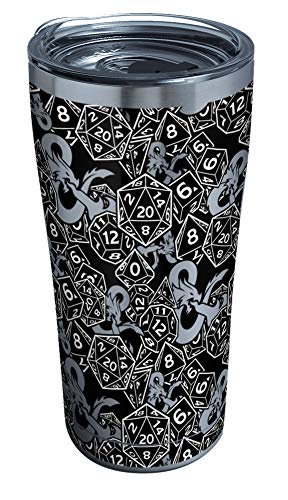 Tervis Triple Walled Dungeons & Dragons Insulated Tumbler Cup Keeps Drinks Cold & Hot, 20oz - Stainless Steel, Pattern