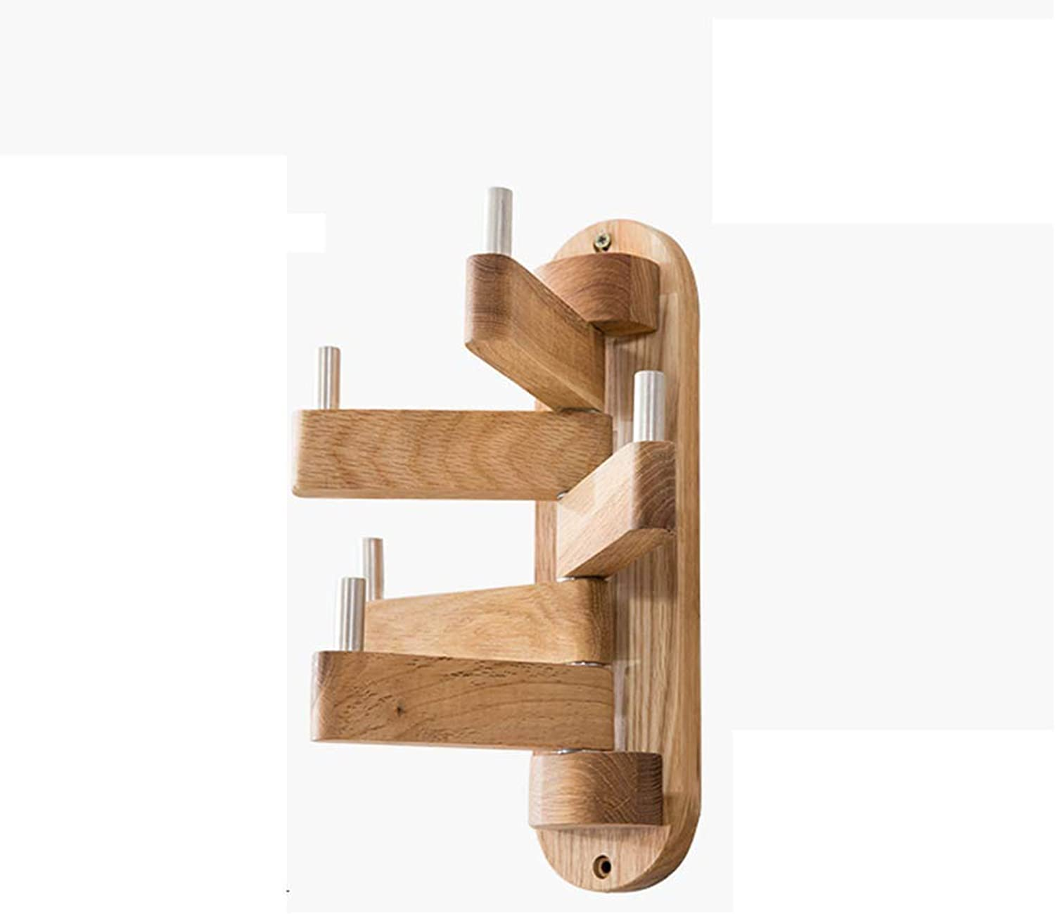 Nordic Simple Solid Wood redating Clothes Hanging Bedroom Wall Hanging Tree coat rack Five Hook Strong Storage Hanger 30  25cm