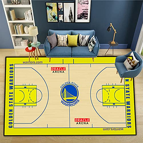 Warriors Team - Alfombra de baloncesto para decoración del hogar (100 x 160)
