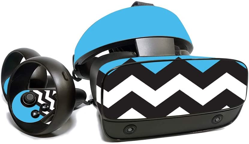 MightySkins Skin for Oculus Rift S - Baby Blue Chevron   Protective, Durable, and Unique Vinyl Decal Wrap Cover   Easy to Apply, Remove, and Change Styles   Made in The USA