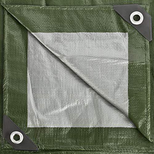 GardenMate 1,5x6m 140g/m2 Lona de protección prémium verde - Funda protectora - Malla geotextil