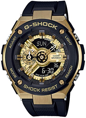 Casio G-Shock gst400g-1a9G-Steel Anti-Magnetic Oro Negro Reloj
