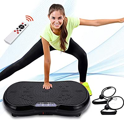 Healthgenie Whole Body Exercise Vibration Platform, Full Body Vibration Plate Vibrating Machine for Home Viberation w/Control Remote 99 Speed Max Loading 330Lbs
