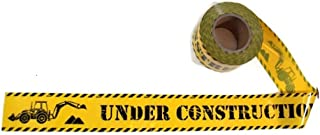 """TorxGear Kids Under Construction Party Tape! - 300 Foot Roll, 3"""" Wide, Black and Yellow - Caution, Birthday Tape - Constru..."""