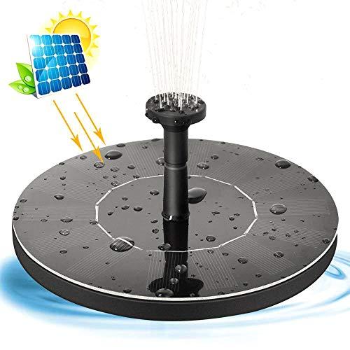 Solar Fountain Pump, 1.4W Solar Panel Pond Pump Water Feature Pump Submersible Pump with 4 Floating Lotus Set for Bird Bath,Fish Tank,Aquarium,Pond or Garden Decoration