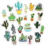 Scrox 1set Etiqueta engomada del parche de cactus DIY Accesorios de Vestir de...