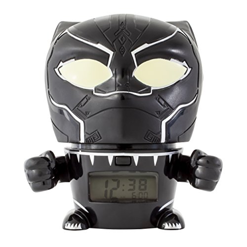 Bulbo Botz Infinity Guerra Luz Nocturna Marvel Vengadores Negro Pantera Reloj Despertador