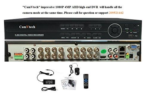 Camvtech Usa 16 Channel 5MP Business Class Hisilicon Chipset Mix Mode Viewing 960Hx720Px960Px1080PxIPC-CVI/TVIx5MP, 2sata up 12Tb, Ptz, Cloud, P2P, Mobile Phone, Motion Detect
