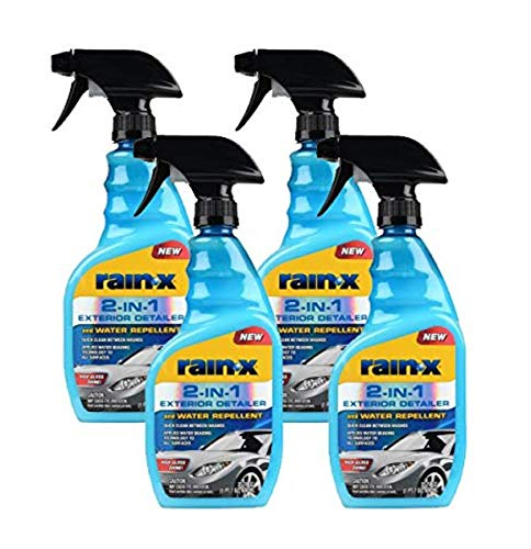 Rain-X 620115 2-in-1 Exterior Detailer and Water Repellent, 23 oz. (Pack of 4)