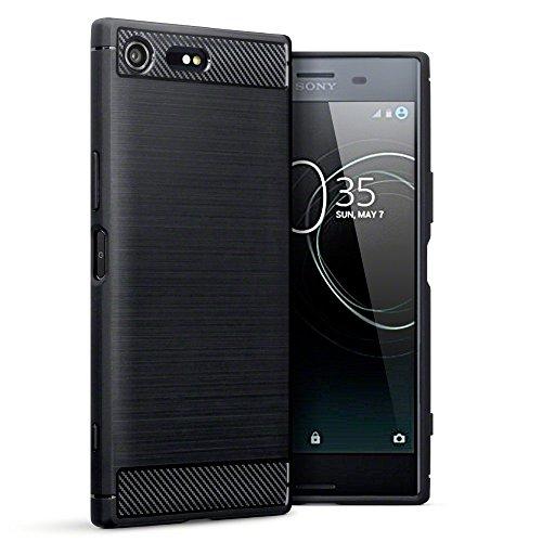 COPHONE® Coque de Protection Sony Xperia XZ Premium Etui antidérapent Coque Fibre de Carbone Noir Sony Xperia XZ Premium Housse Souple Haute Protection, Anti Choc