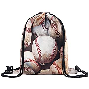 ❤️ 【FASHION DESIGN】 This cute Drawstring Backpack make excellent teen dance bags, gym bags for women or gym bags for boys and girls, which is why they are a fabulous gifts for him. ❤️【MULTIPURPOSE】Lightweight, small and comfortable, our gymsack are u...