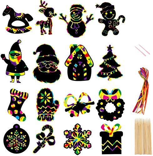 mxjxj Arañazos de Navidad Kits de Papel de Arte for los niños,...