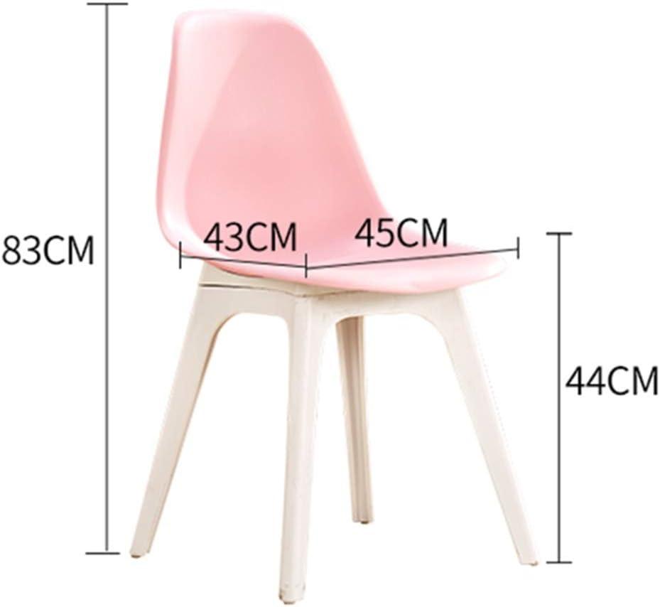 WGXX Chaise d'ordinateur créative Moderne Minimaliste en Plastique pour Adulte, Restaurant, Salle à Manger Nordique Rose