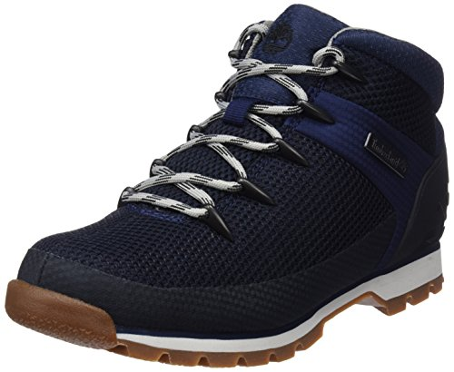 Timberland Mens Euro Sprint Fabric Walking Durable Hiking Ankle Boot - Navy - 7.5