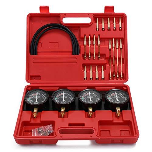 Professioneller tragbarer Brennstoff-Vakuum-Vergaser-Synchronisierungs-Set 4-Messgeräte-Werkzeugkit für Motorradauto Universal