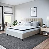 Classic Brands Synergy Memory Foam and Innerspring Hybrid 9-Inch Pillow Top Mattress | Bed-in-a-Box Twin XL